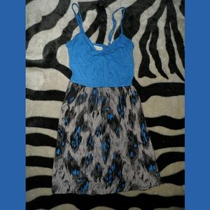 Blue Silence Noise Dress Spaghetti Strap